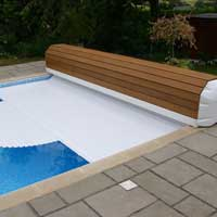 Roll over swimming pool cover